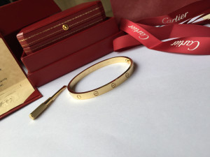Best Quality Cartier yellow gold love bracelet with Cartier box