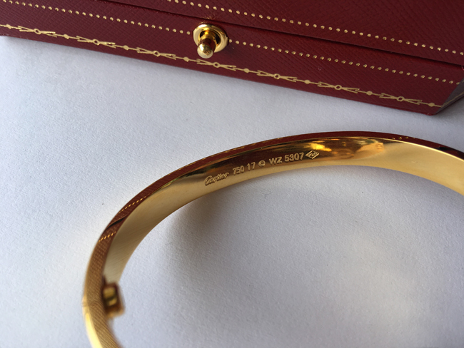 Great Cartier Markings and Engravings for Cartier LOVE bracelet