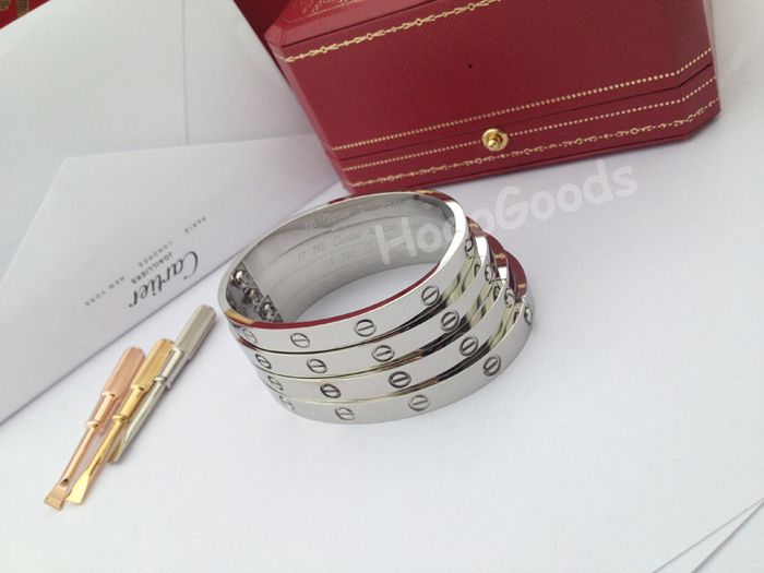 Cartier love bracelet white gold size 16, 17, 18, 19cm