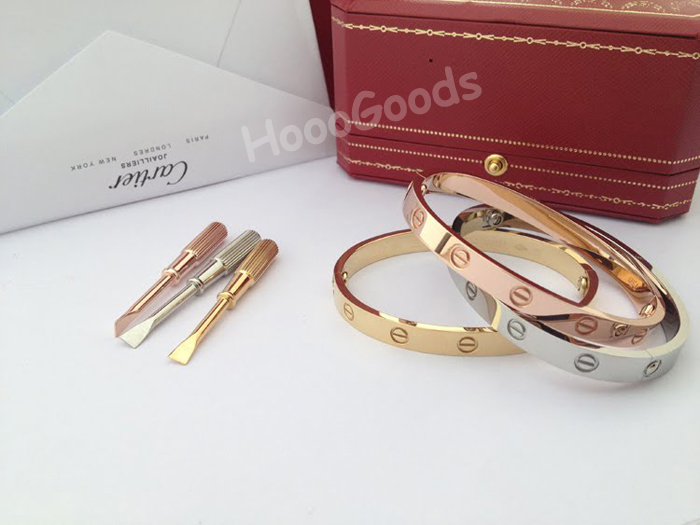 Cartier love bracelet white gold, yellow gold, pink gold