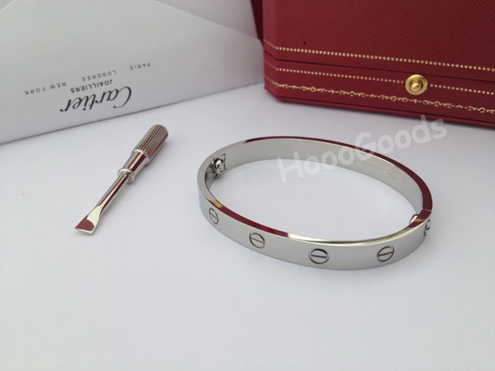 Cartier love bracelet without diamonds white gold